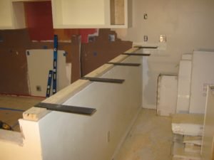 Granite countertop support brackets granite countertop info for Supports for granite countertop overhang