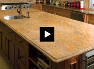 Video instructions for removing granite soap film