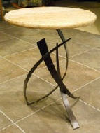 handmade granite tables and wrought iron bases